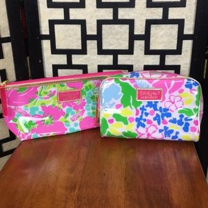 NEW Lilly Pulitzer Vinyl cosmetic bags pair
